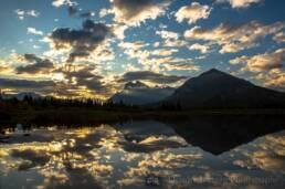View overlooking Banff, Alberta, Canada