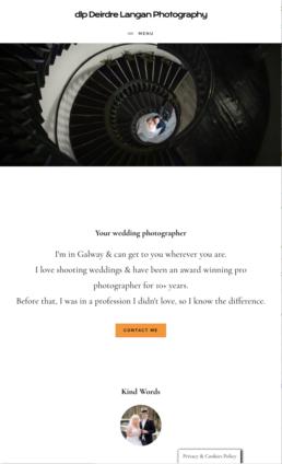 Previous website homepage