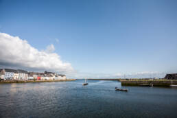 Photo of the Claddagh, overlooking the Long Walk in Galway City